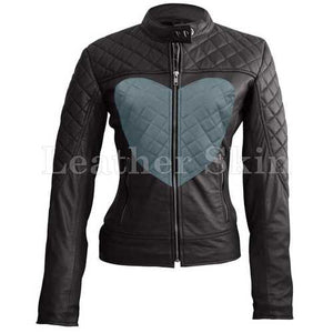 Women Heart Leather Jacket