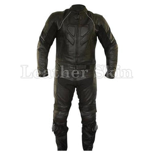 Leather Skin Men Black Biker Motorcycle Premium Genuine Leather Jacket Trouser Suit