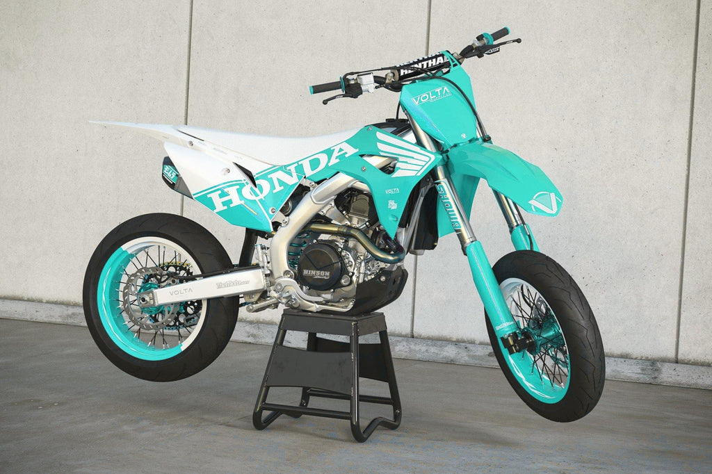 'ROJO MOTO' TEAL HONDA GRAPHICS KIT