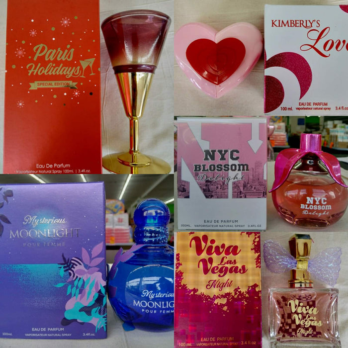 10 PACK OF ASSORTED PERFUMES FOR HER OR HIM