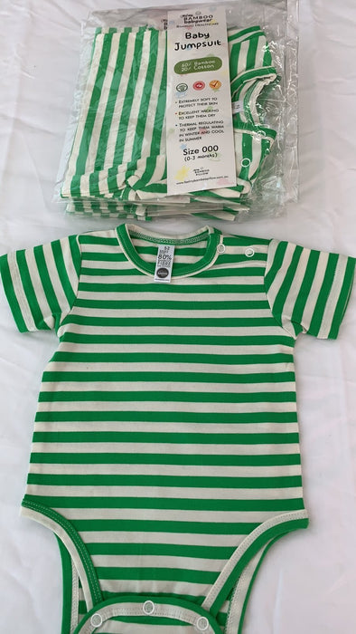 PACK OF 6 PURE BAMBOO BABY JUMPSUITS