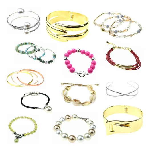Assorted pack of department store bracelets