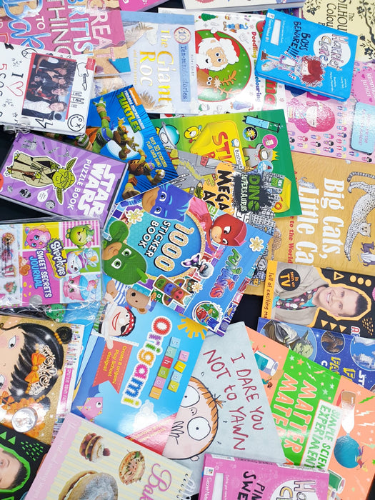 AMAZING MYSTERY BOX OF 10 BOOKS FOR BOYS OR GIRLS FOR ALL AGES