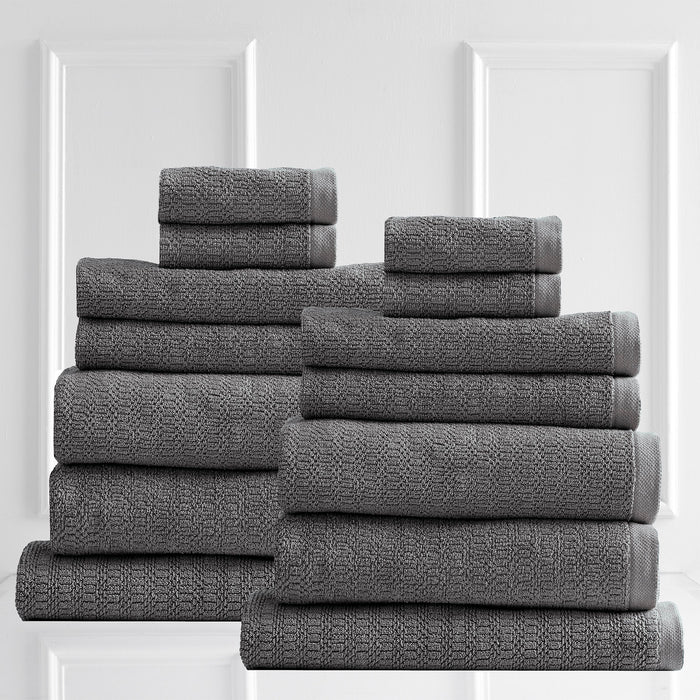 Renee Taylor Resort 650 GSM Textured 7 Piece Coal