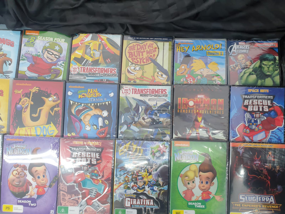 ASSORTED KIDS DVDS 10 PACK