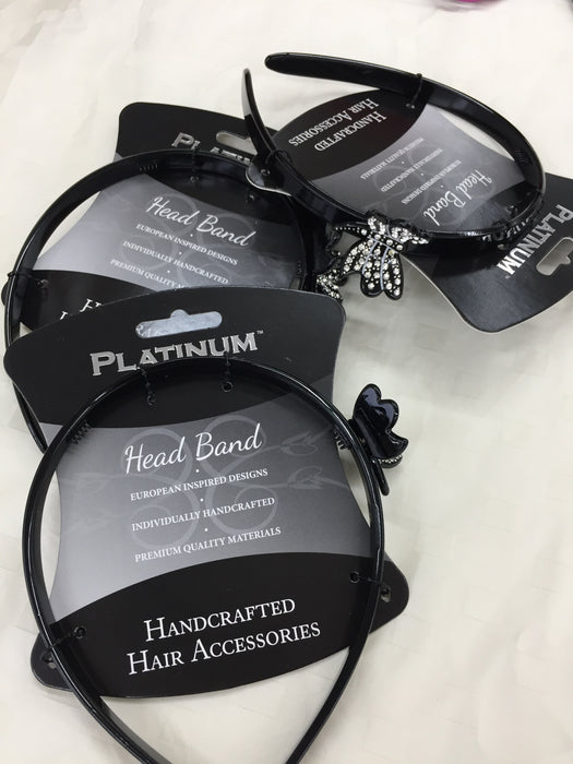 20 PACKS OF ASSORTED PLATINUM BRAND HAIR ACCESSORIES