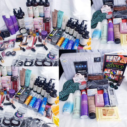 MONEY SAVING BUNDLE DEAL! MEGA BEAUTY BOX OF 100 PRODUCTS FOR YOUR SKIN HAIR MAKEUP NAILS EYES AND MORE ALL BRANDED + THE EXCITING LUCKY DIP MYSTERY BOX