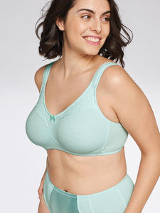 Wirefree Cotton Bra - Mint
