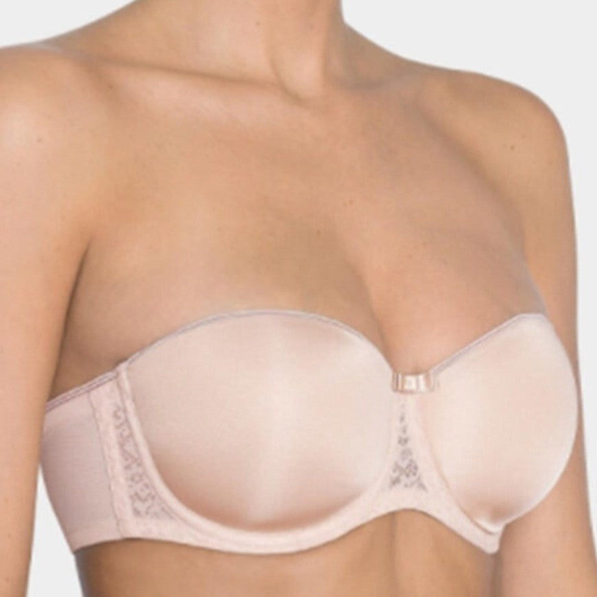 Beauty-Full Essentials Lightly-Lined Underwire Strapless Bra - Beige