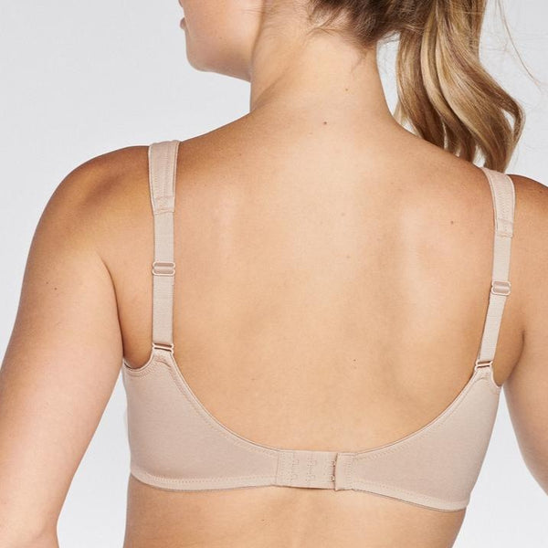 Wirefree Cotton Bra - Beige