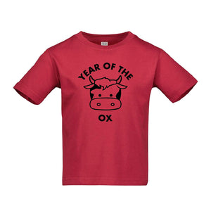 YEAR OF THE OX RED KIDS TEE