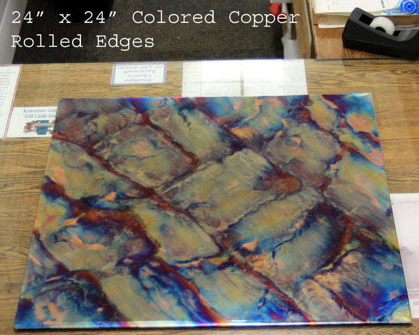 Copper Counter Topper - Flame Enhanced