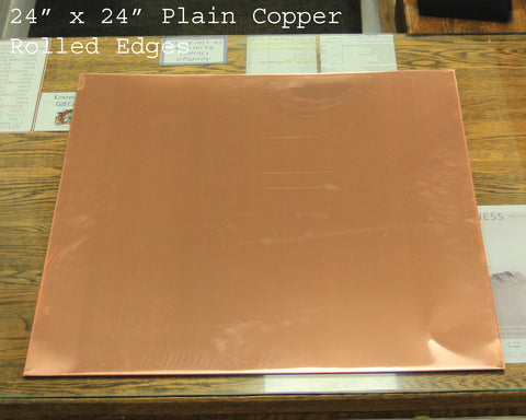 Copper Counter Topper - Plain Copper