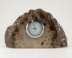 Petoskey Stone Mini Quartz Clock - Medium