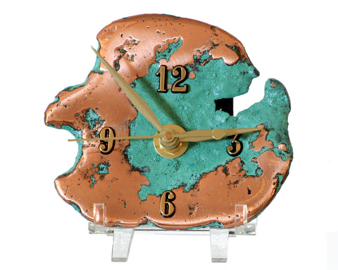 Splash Copper Desk Clock