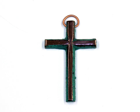 "Solid Copper 3 1/2"" Mini Cross"