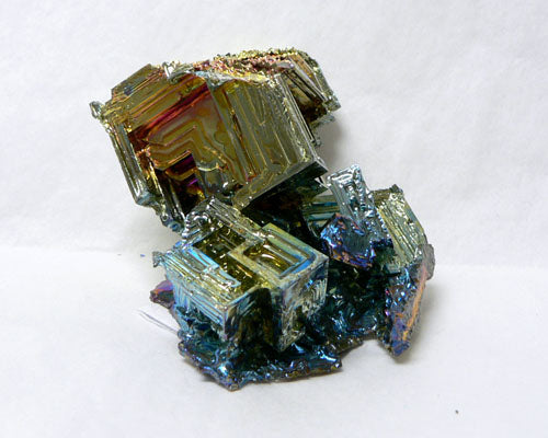 "Colored Bismuth - 12pc flat 3"" to 3 1/2"" size"