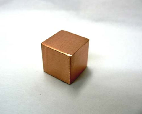 Small Copper Cube - 35pc flat