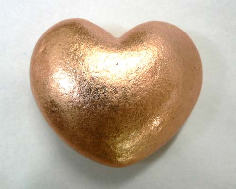 Large Solid Copper Heart - 24pc flat
