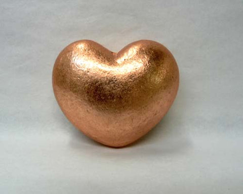 Small Solid Copper Heart - 35pc flat