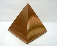 Large Solid Copper Pyramids - 18pc flat