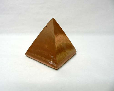 Small Solid Copper Pyramids - 24pc flat