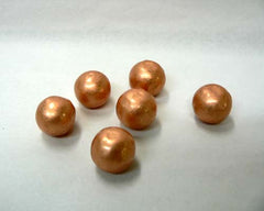 Mini Solid Copper Spheres - bag of 50pc