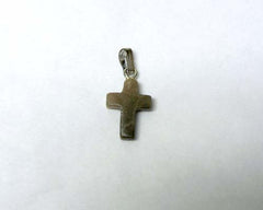 Petoskey Stone Cross Charm