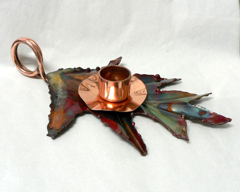 Oak Leaf Candle Holder