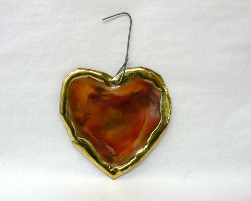 Small Copper Art Heart