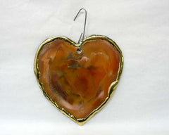 Large Copper Art Heart