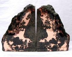Large Copper Ore Bookends