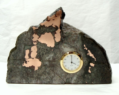 Copper Ore Large Mini Quartz Clock