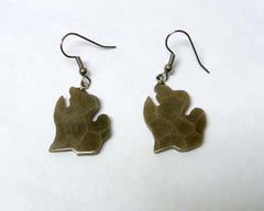 Petoskey Stone Lower Michigan Earrings