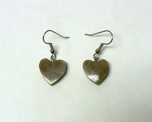 Petoskey Stone Heart Earrings