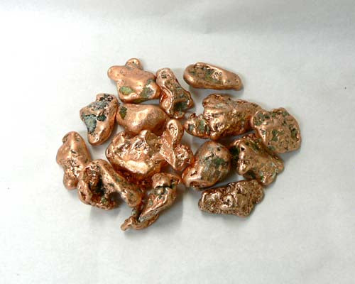 "Small Copper Nuggets in Bulk - 1/4"" to 1 1/4"""