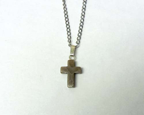Petoskey Stone Cross Pendant