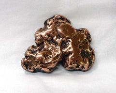 Polished Copper Nuggets - 24pc flat