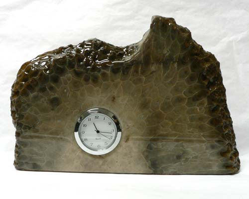 Petoskey Stone Large Mini Quartz Clock