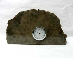 Petoskey Stone Medium Mini Quartz Clock