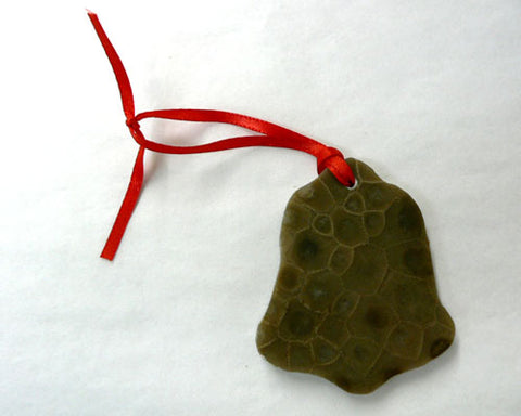 Petoskey Stone Bell Ornament