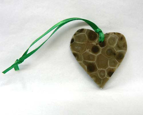 Petoskey Stone Heart Ornament