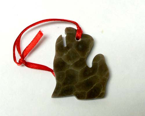 Petoskey Stone Lower Michigan Ornament