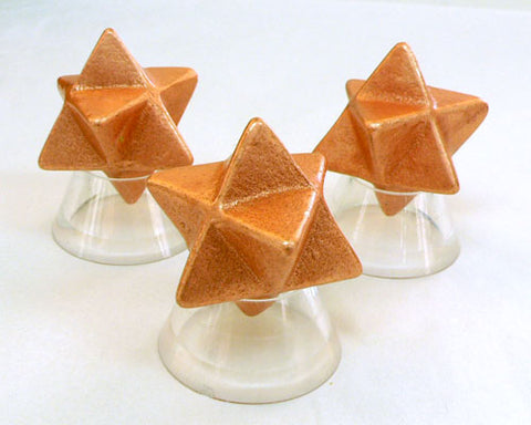 Small Solid Copper Merkaba - 35pc flat