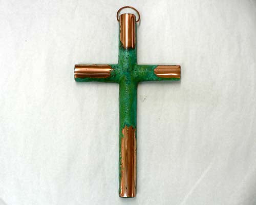 Solid Copper Large Cross
