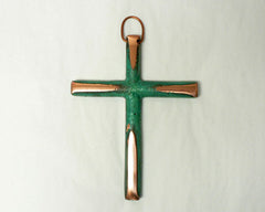 Solid Copper Small Cross