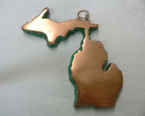 Solid Copper Upper Peninsula of Michigan Casting