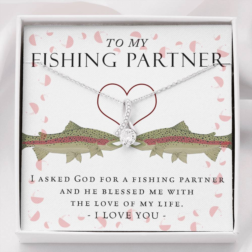 Fishing Partner Alluring Beauty Necklace (Trout Version)