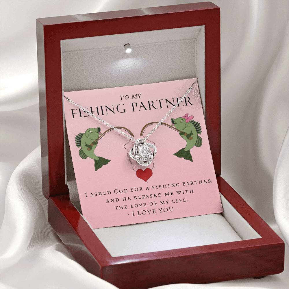 Fishing Partner Love Knot Necklace