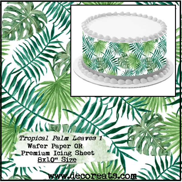 Tropical Palm Leaves 1 Wafer Paper Frosting Sheet Edible Cake Imag Decoreats Choose from over a million free vectors, clipart graphics, vector art images, design templates, and illustrations. decoreats